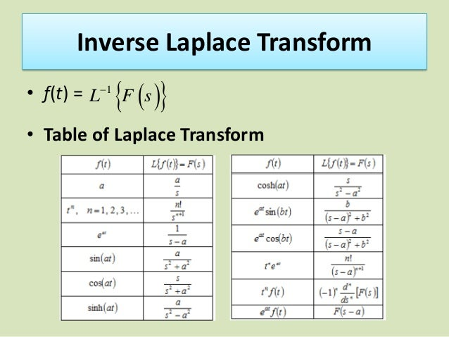 Jif 315 lesson 1 laplace and fourier transform - Table of fourier transform ...