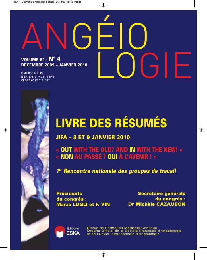 ANGÉIO          LOGIE couv 1_Couverture Angéiologie choisi 24/12/09 15:15 Page1           VOLUME 61 - N° 4       DÉCEMBRE ...