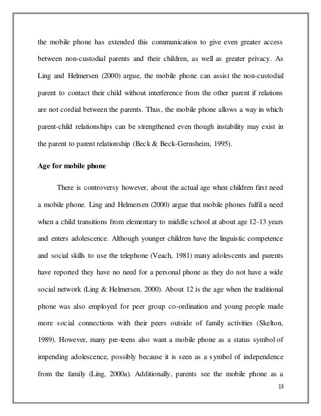 merits and demerits of mobile phones