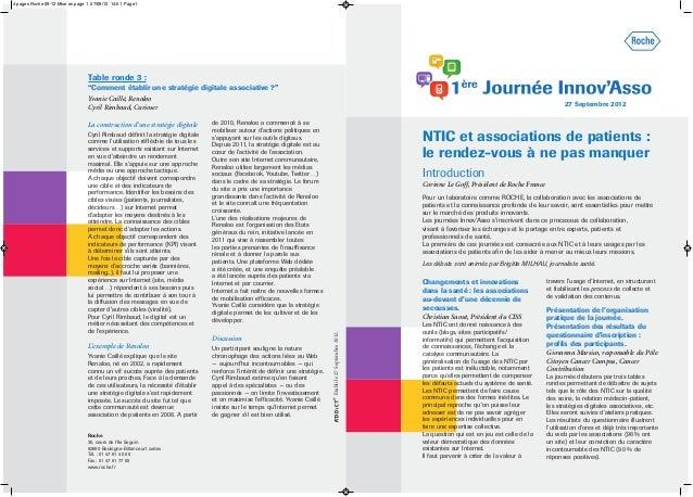 Changements et innovations dans la santé : les associations au-devant d'une décennie de secousses. Christian Saout, Présid...