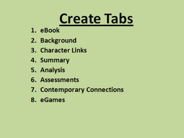 Jigsaw Classics1. Set up a LiveBinders account.2. Establish collaboration with one or two   other students who are reading...