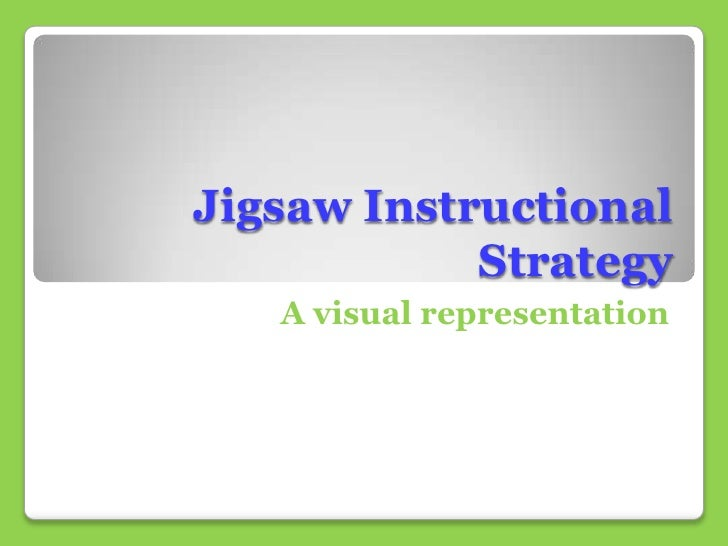 Jigsaw Instructional            Strategy   A visual representation