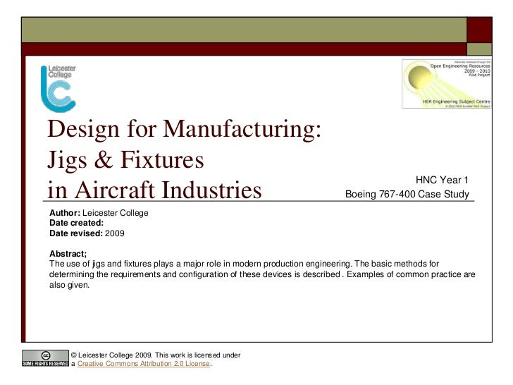 Design for Manufacturing: Jigs & Fixtures                                                                                 ...