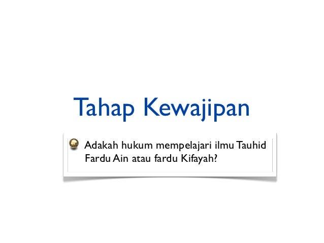 menjadi topik asas dalam al-Quranayat-ayat Makkiyyah yang diturunkanselama 13 tahun berkisar tentangilmu tauhid