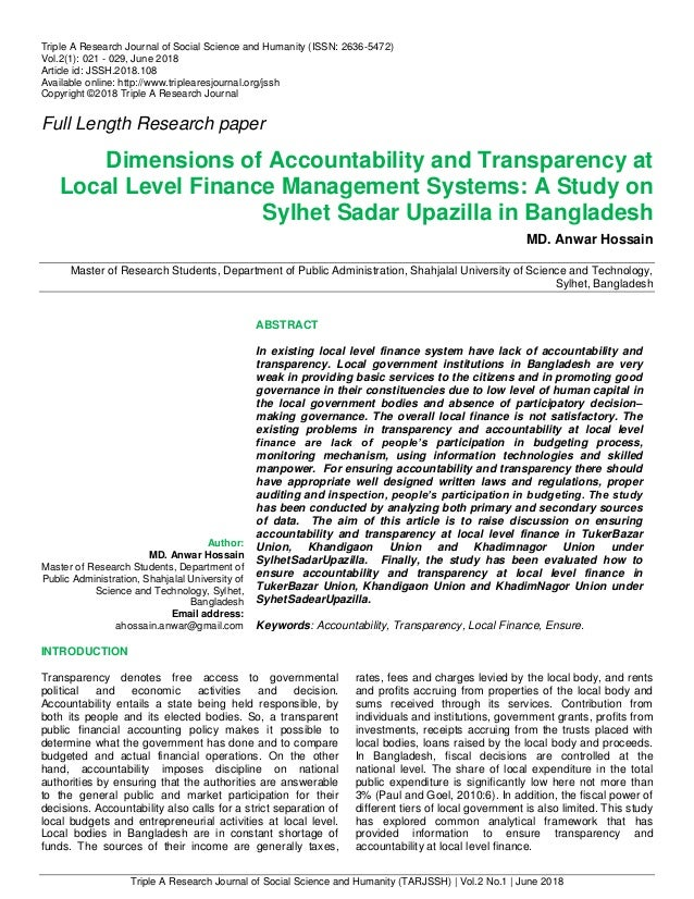 Triple A Research Journal of Social Science and Humanity (TARJSSH) | Vol.2 No.1 | June 2018 Triple A Research Journal of S...