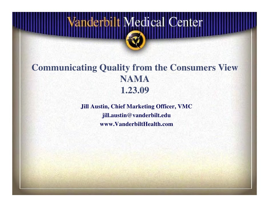 Communicating Q li f C     i i Quality from the C                          h Consumers Vi                                 ...
