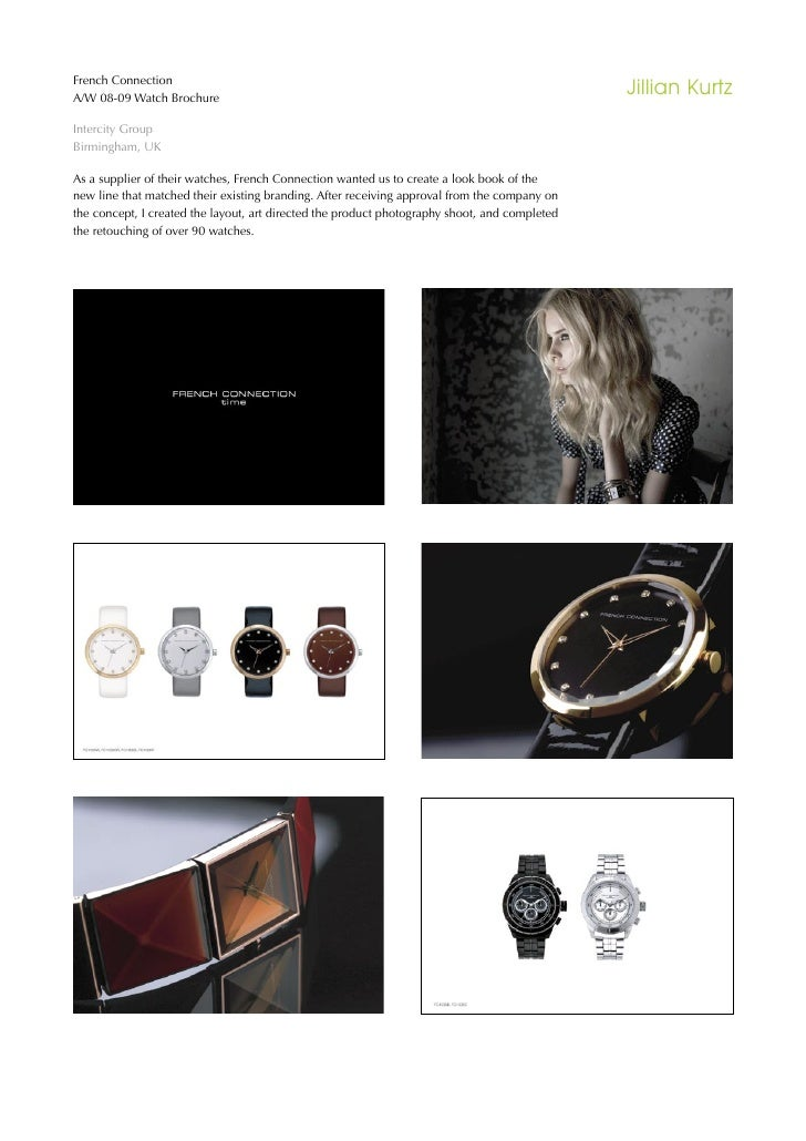 French Connection A/W 08-09 Watch Brochure                                                                                ...