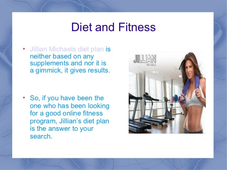 jillian michaels diet plan pdf