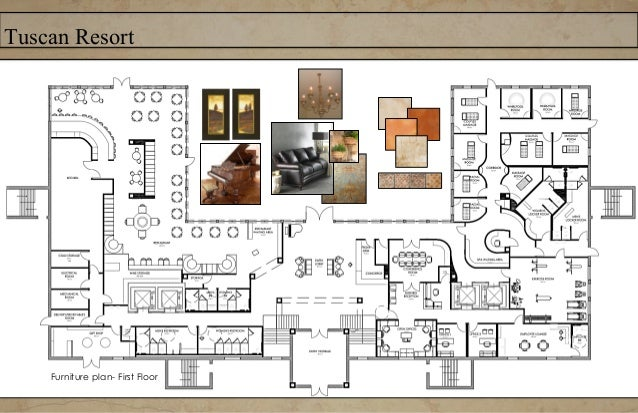 Tuscan ResortRestaurant Bar ElevationResort RestaurantFurniture and flooring specifiedFinished Concept