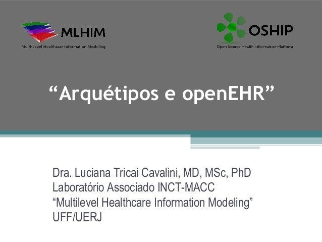"""""""Arquétipos e openEHR""""Dra. Luciana Tricai Cavalini, MD, MSc, PhDLaboratório Associado INCT-MACC""""Multilevel Healthcare Info..."""