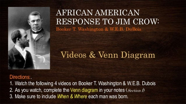 a research on booker t washington and web dubois The american dream is contemplated by both booker t washington and web du bois the american dream is contemplated by both booker t washington and web du bois as they dare to dream of a harmoniously integrated cultural identity in this great country, washington and du bois have an important message for americans, both black and white.