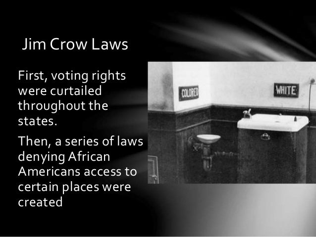Jim crow research essay