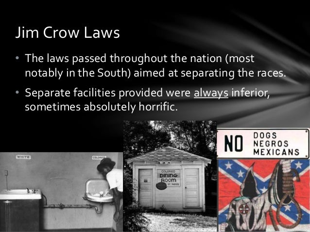 a history of jim crow laws in the united states 9 page essay - download as slavery in the united states has officially come to an the jim crow laws and subsequent black codes proved to be a digressive.
