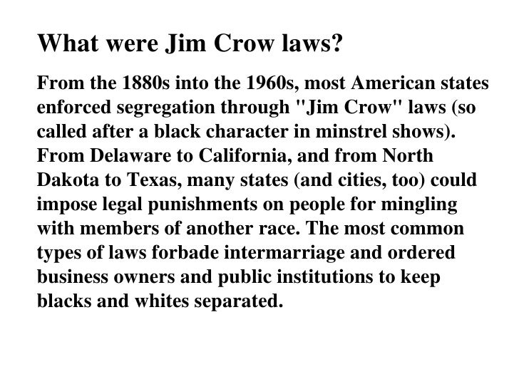 Jim Crow Powerpoint