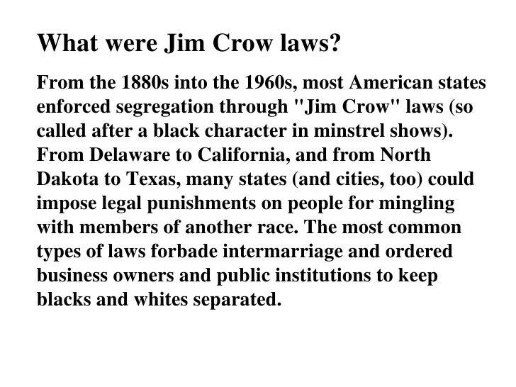 Jim Crow Powerpoint Slide 2