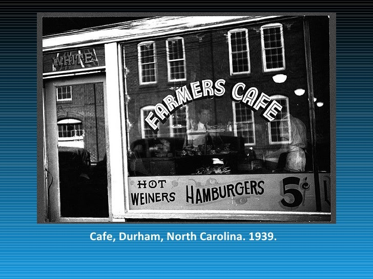 Cafe, Durham, North Carolina. 1939.