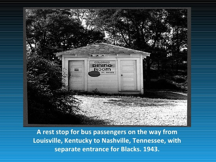 A rest stop for bus passengers on the way fromLouisville, Kentucky to Nashville, Tennessee, with       separate entrance f...