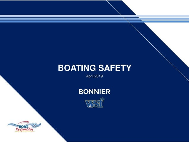 BOATING SAFETY April 2019