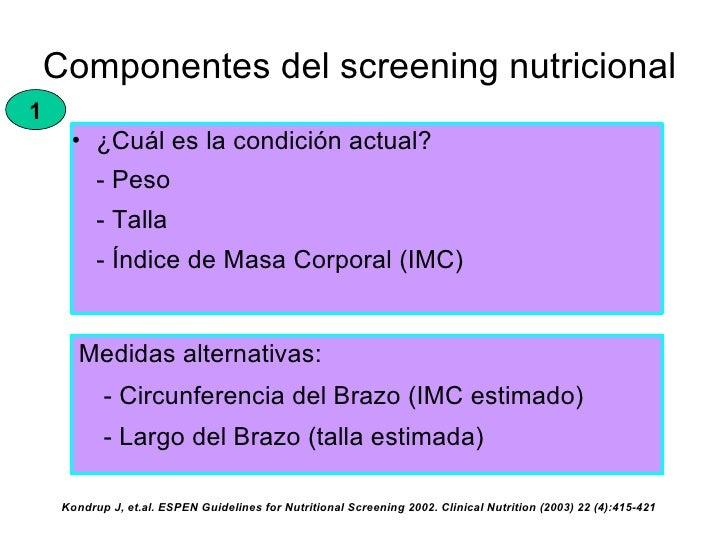 espen guidelines for nutrition screening