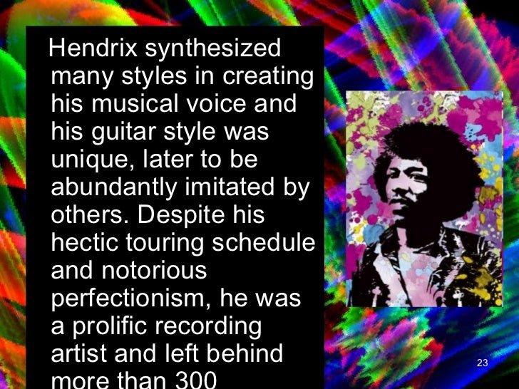 the music career and influence of jimi hendrix Jimi hendrix discography and songs: music  jimi became a master songwriter  but his work has remained so vital and inspirational that his influence over the.