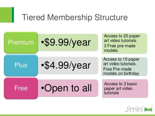 Tiered Membership Structure                         Access to 20 paperPremium   •$9.99/year    art video tutorials.       ...