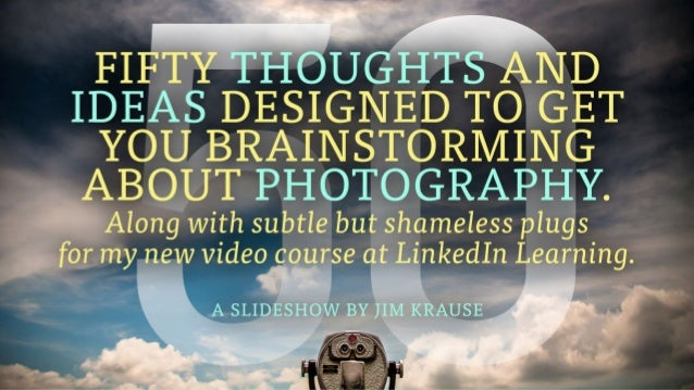 Thanks for checking out my slideshow! All the photos you just saw are from my online video course, Pro-Level Photography f...