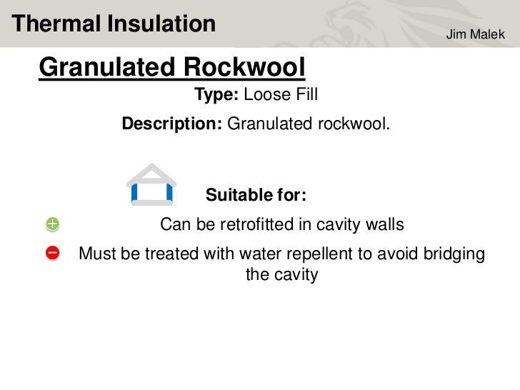 Jim malek insulation performance certification for Rockwool loose fill