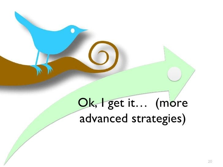 Ok, I get it…  (more advanced strategies)