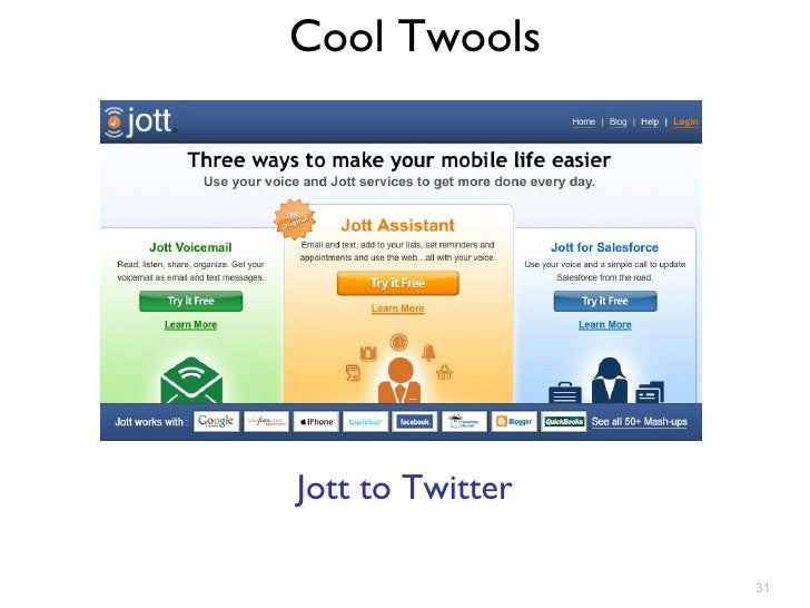 Cool Twools Jott to Twitter