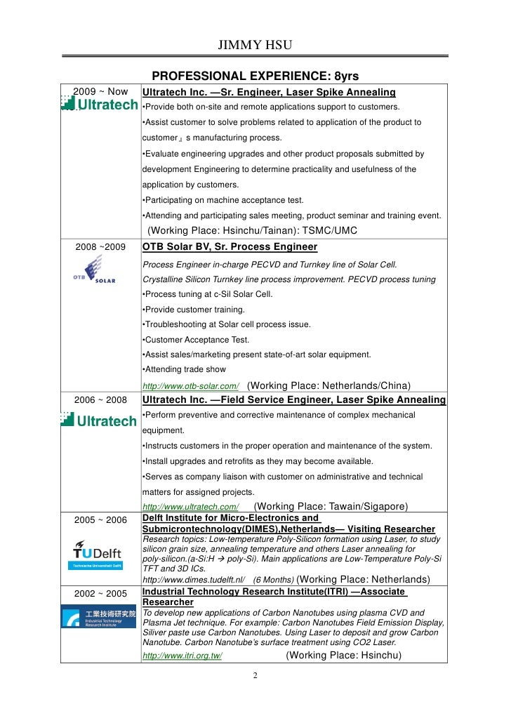 semiconductor process engineer resume 100 best process
