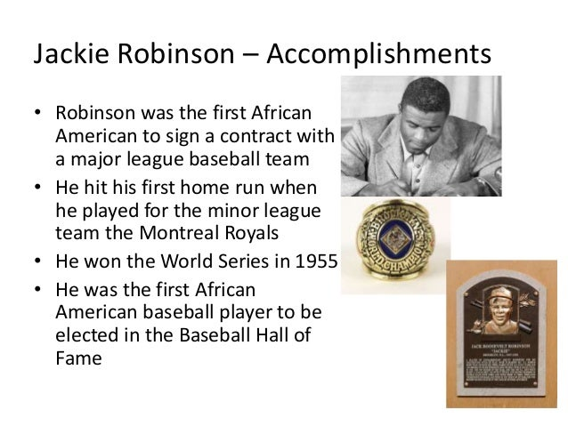 Jackie robinsons life and accomplishments essay