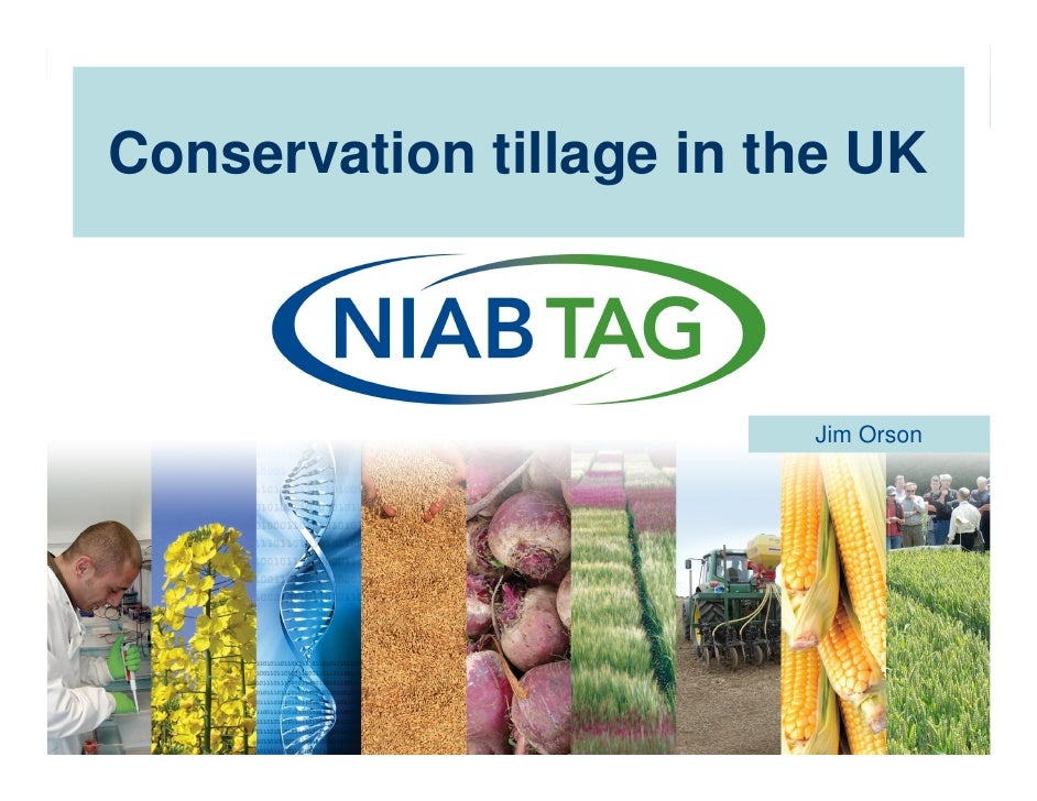 Conservation tillage in the UK                                 Jim Orson© Copyright text