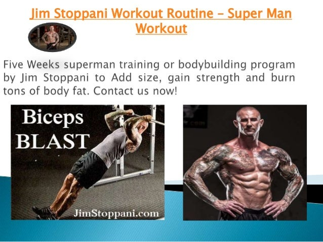 Jim Stoppani Workout Routine Super Man