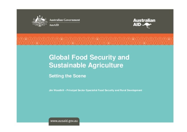 Global Food Security and Sustainable Agriculture Setting the Scene  Jim Woodhill – Principal Sector Specialist Food Securi...