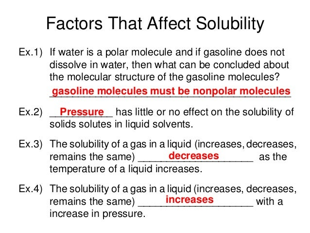 how temperature affects solubility