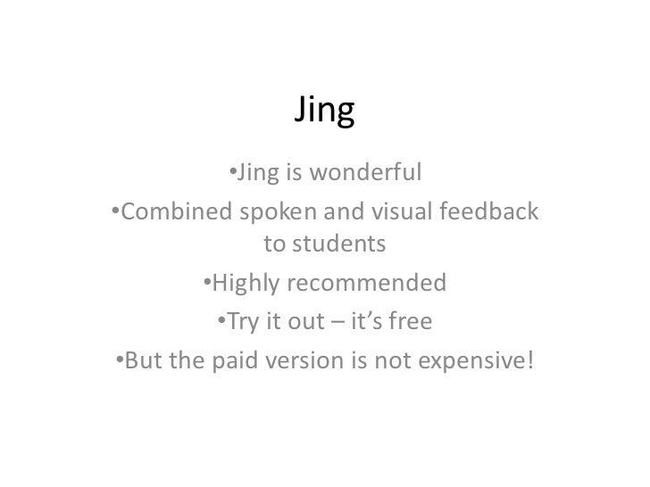 Jing<br /><ul><li>Jing is wonderful