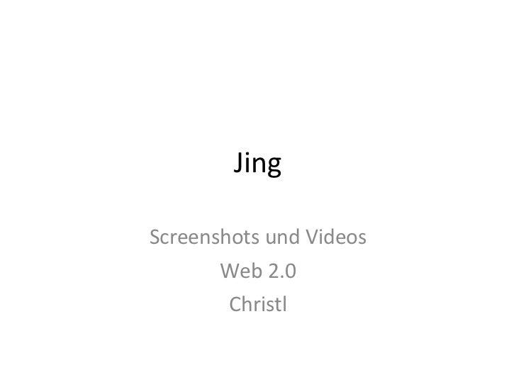 Jing Screenshots und Videos Web 2.0 Christl