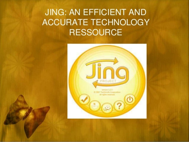 JING: AN EFFICIENT ANDACCURATE TECHNOLOGY       RESSOURCE