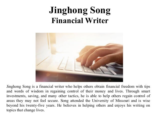 Jinghong Song Financial Writer Jinghong Song is a financial writer who helps others obtain financial freedom with tips and...
