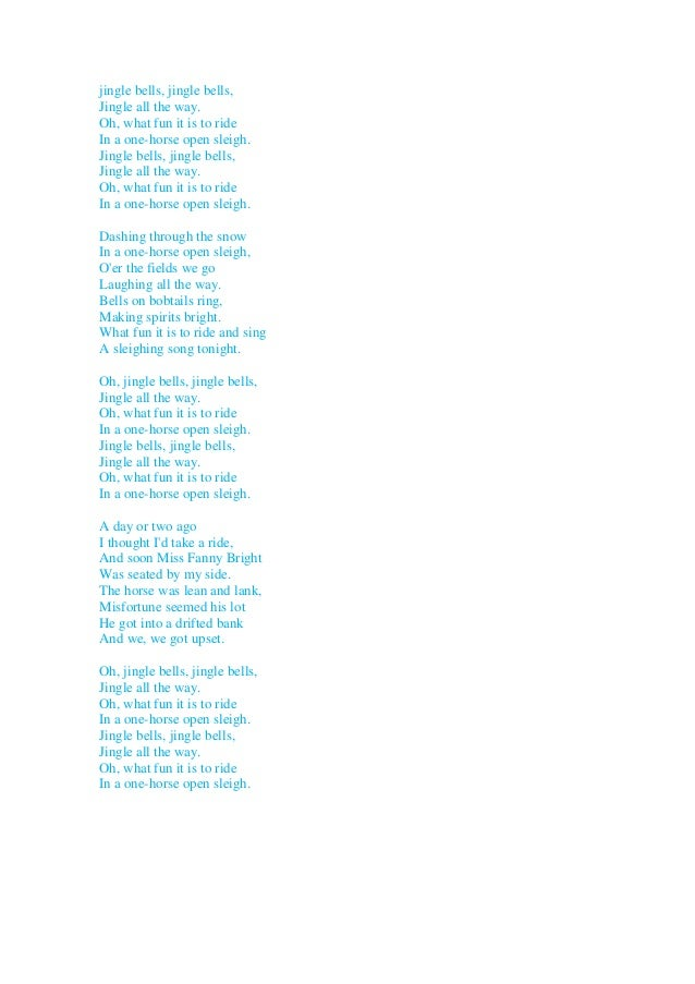 lyrics of jingle bells christmas song