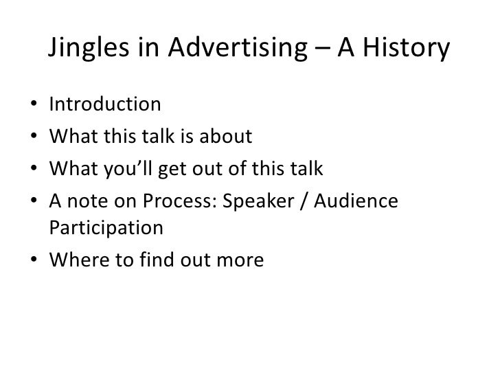 Jingles in Advertising - A History