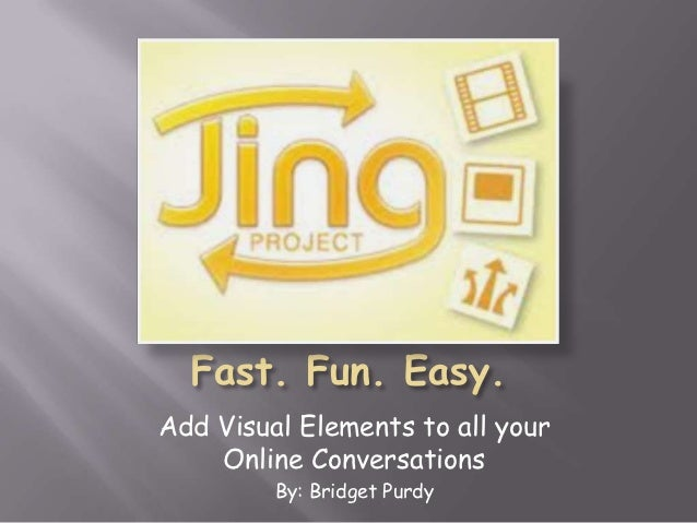 Add Visual Elements to all your    Online Conversations         By: Bridget Purdy