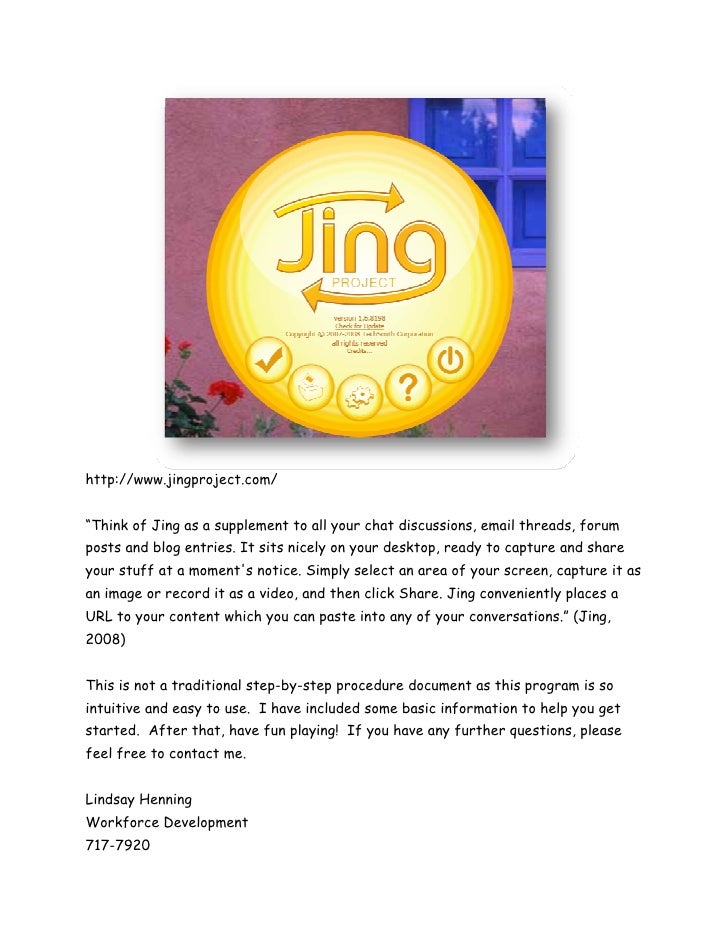 """http://www.jingproject.com/""""Think of Jing as a supplement to all your chat discussions, email threads, forumposts and blog..."""