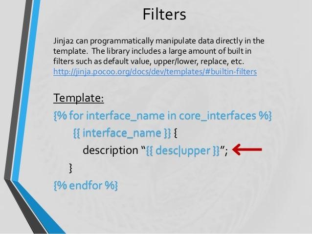 Python (Jinja2) Templates for Network Automation