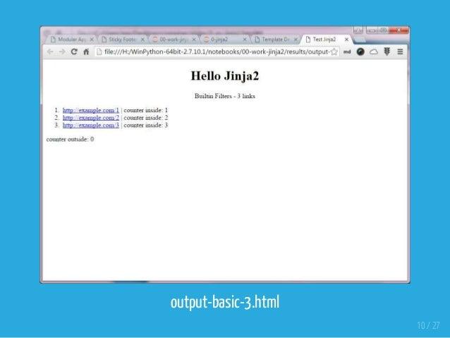 Python Templating Engine - Intro to Jinja
