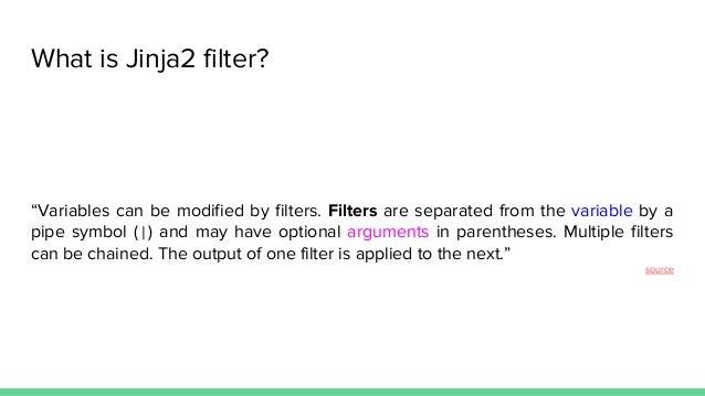 Jinja2 filters