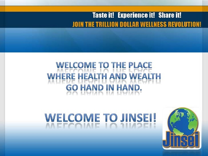 Welcome to the place where health and wealth go hand in hand.<br />Welcome to Jinsei!<br />