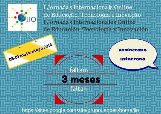I Jornadas Internacionais Online de Educação, Tecnologia e Inovação I Jornadas Internacionales Online de Educación, Tecnol...