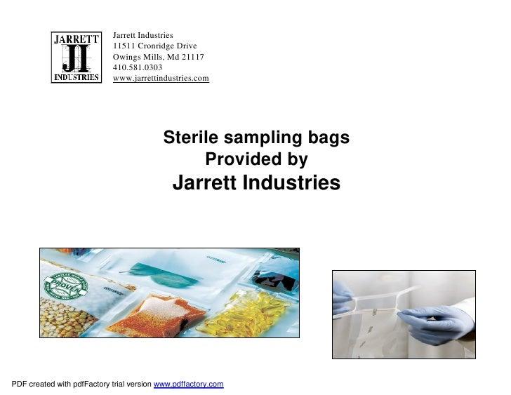 Jarrett Industries                            11511 Cronridge Drive                            Owings Mills, Md 21117     ...