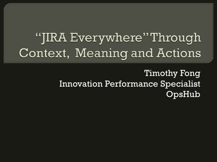 Timothy Fong Innovation Performance Specialist OpsHub